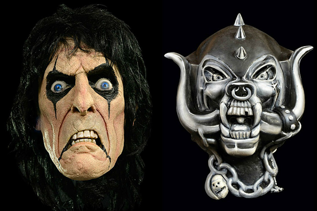 alice cooper and motorhead masks help you plan ahead for halloween