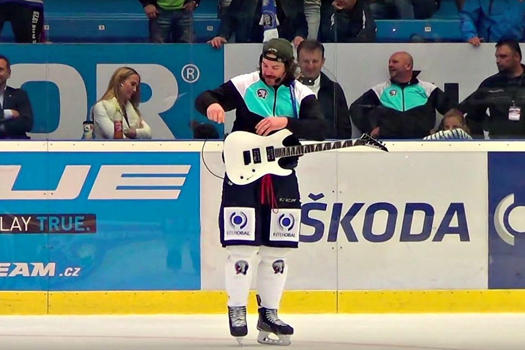 Watch A Guitar Toting Hockey Player Cover Tom Pettys Free Fallin