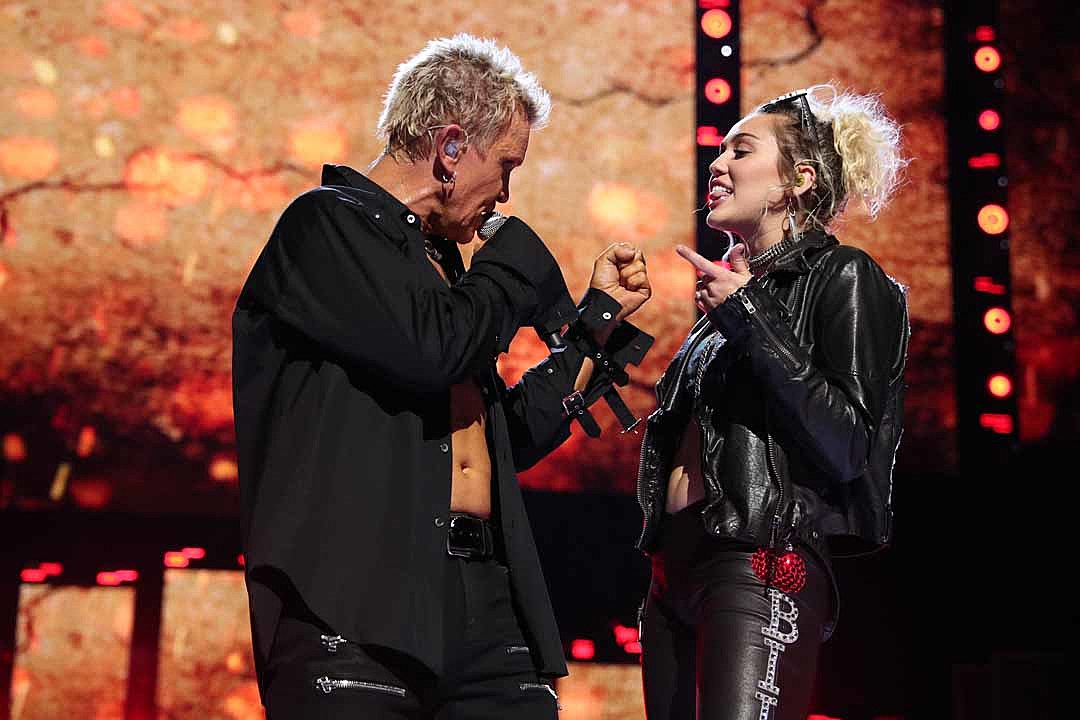 Billy Idol + Miley Cyrus Team Up to Perform 'Rebel Yell' at iHeartRadio Festival