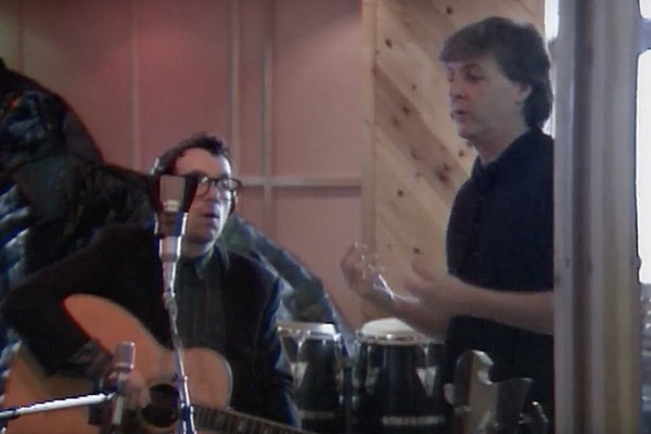 Image result for paul mccartney and elvis costello recording