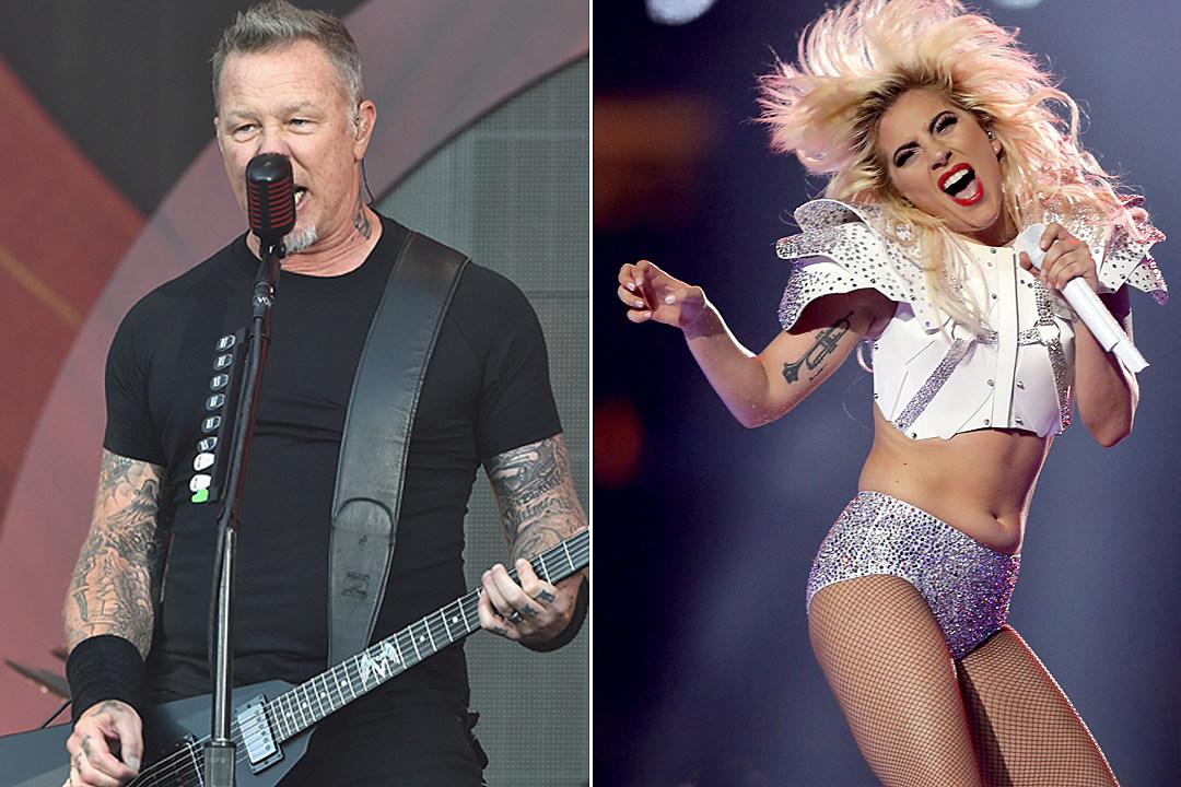 Lady Gaga Performing with Metallica at 2017 Grammys