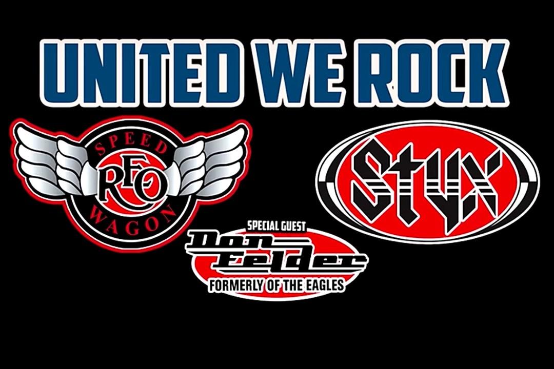 Styx, REO Speedwagon and Don Felder Announce 'United We Rock' Summer Tour