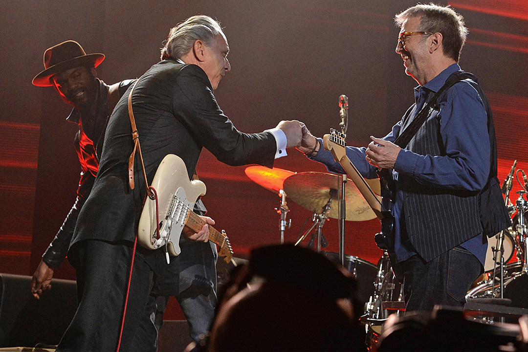 Eric Clapton Jams With Jimmie Vaughan and Gary Clark Jr. at First 2017 U.S. Concert
