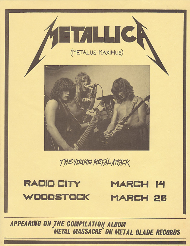 Metallica First Concert Flyer