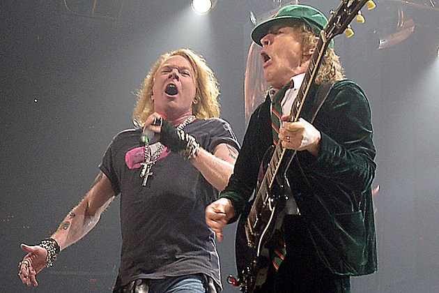 Axl Rose and Brian Johnson
