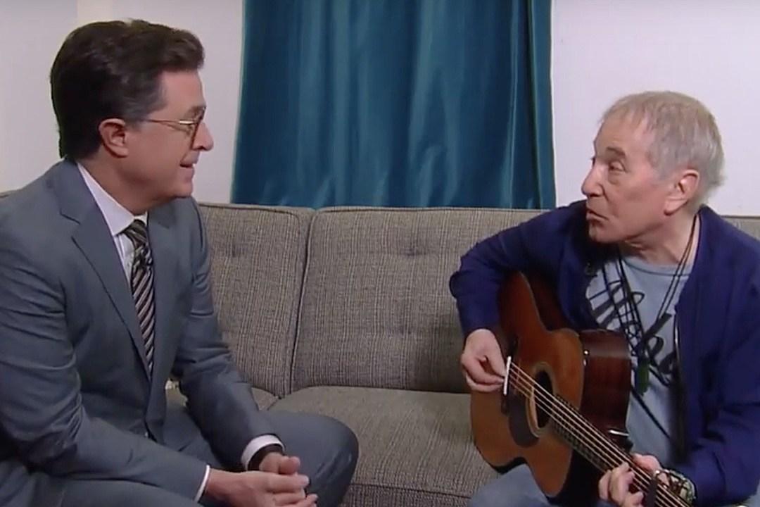 Watch Paul Simon and Stephen Colbert Update