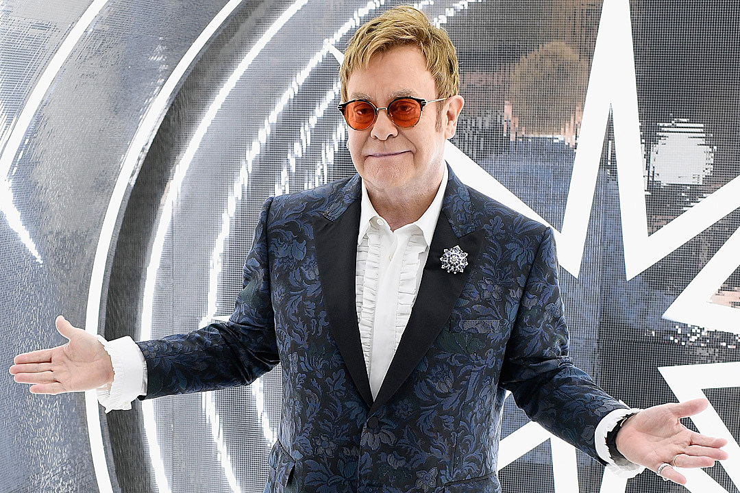Elton John presents winners of music video contest during Cannes Film Festival