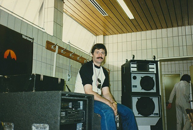 Noel Monk backstage during the 1984 tour (Courtesy of Noel Monk)