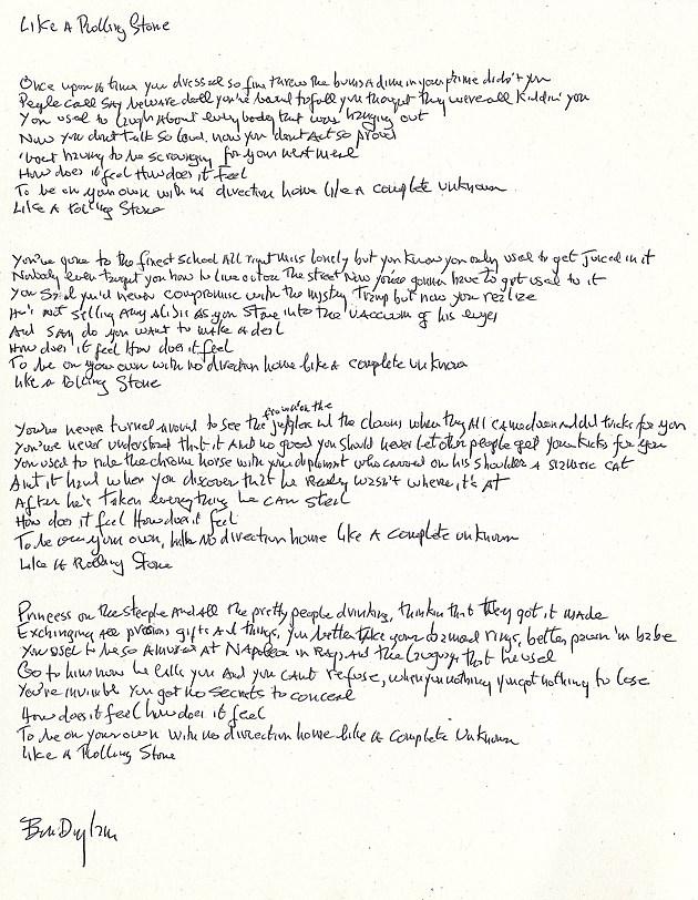 Bob Dylan Lyrics