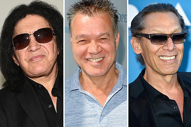 Gene Simmons Eddie Van Halen Alex Van Halen