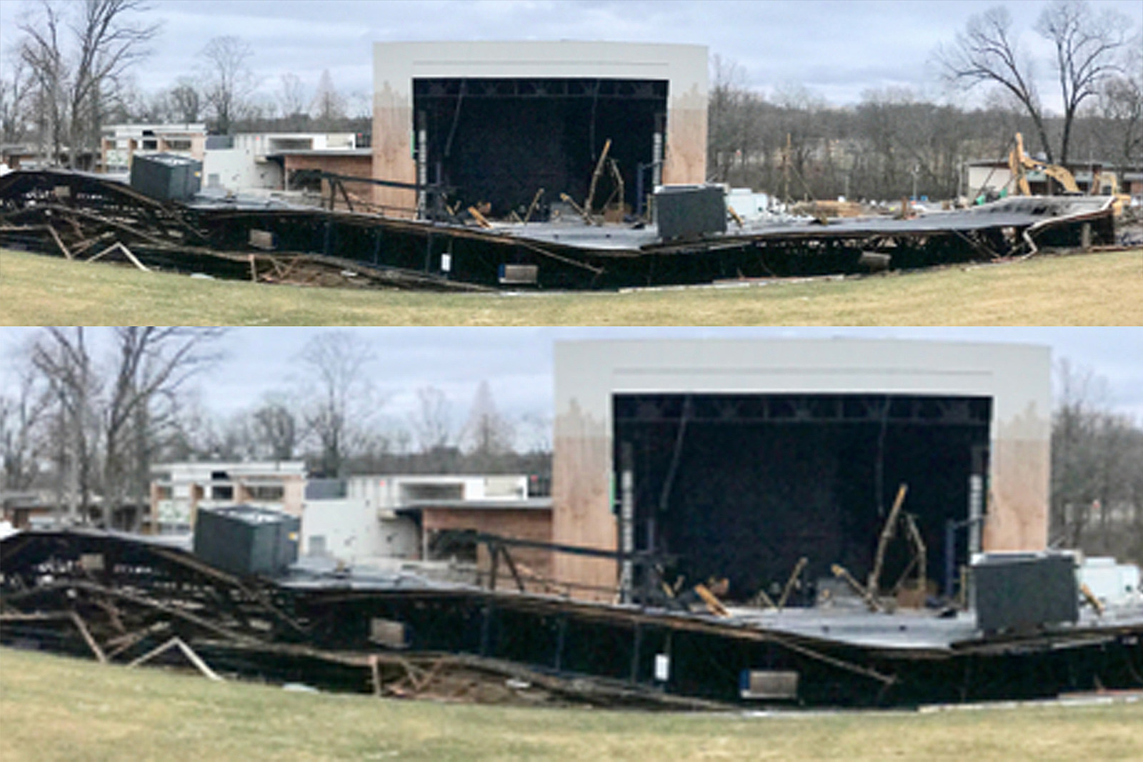 Merriweather Post Pavilion Roof Collapses