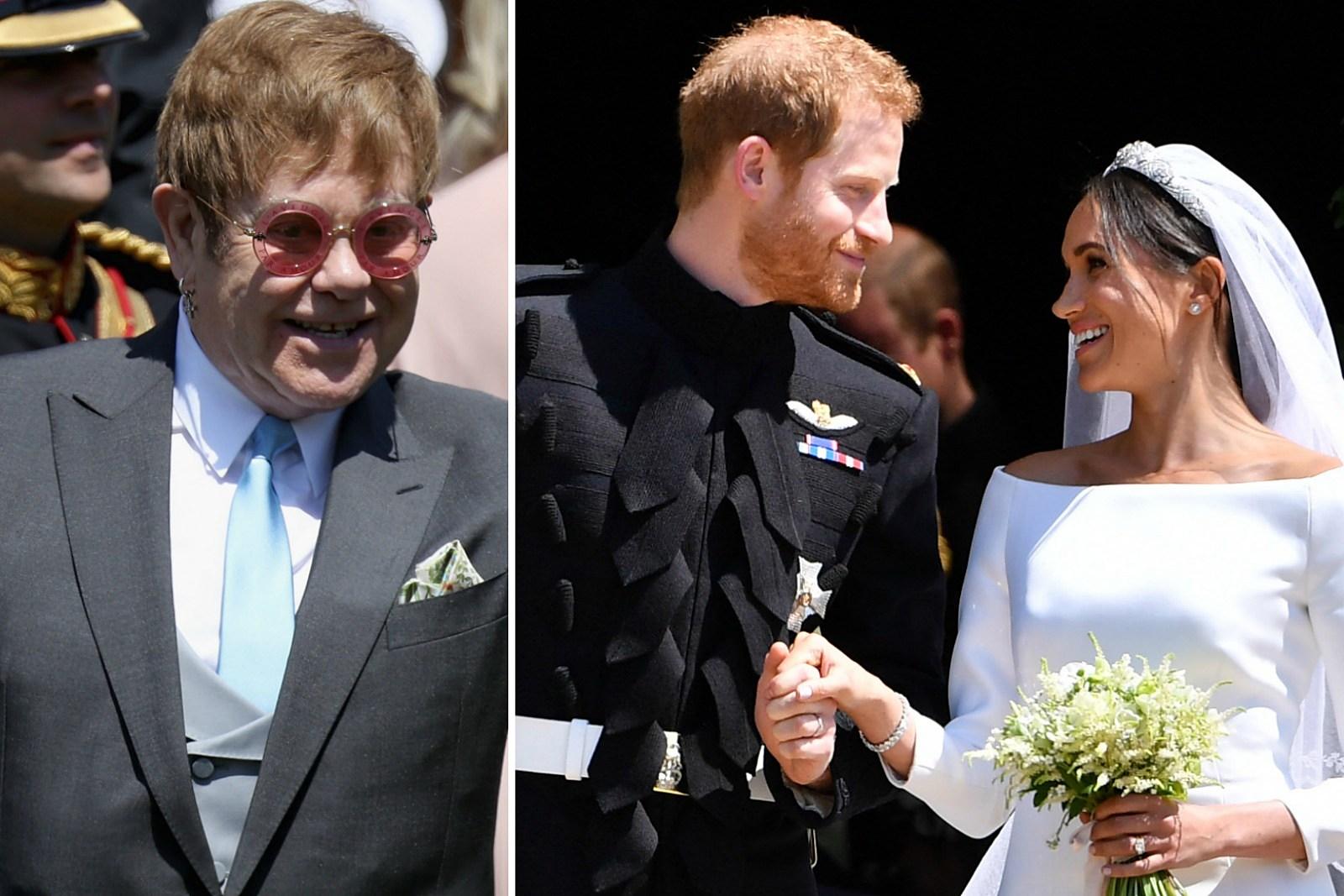 Elton John Performs 'Your Song' at Royal Wedding