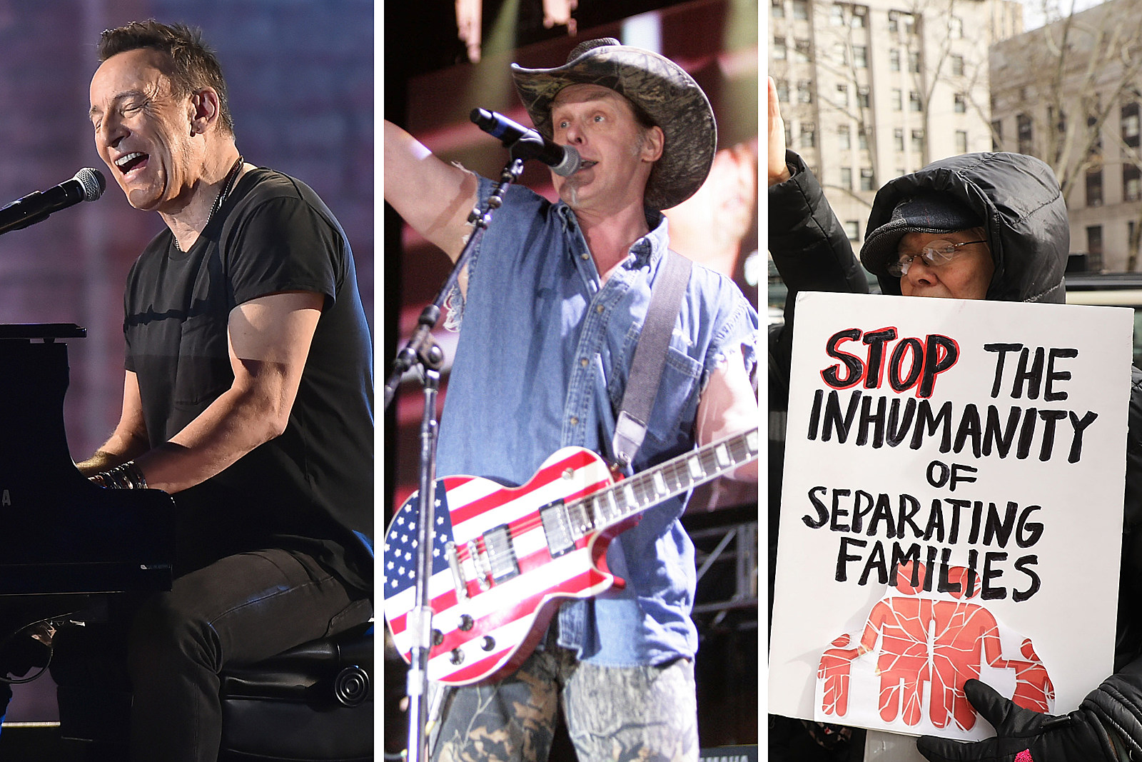 Bruce Springsteen, Ted Nugent Weigh in on Immigration Debate