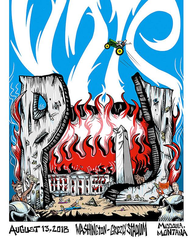 Pearl Jam Trump poster
