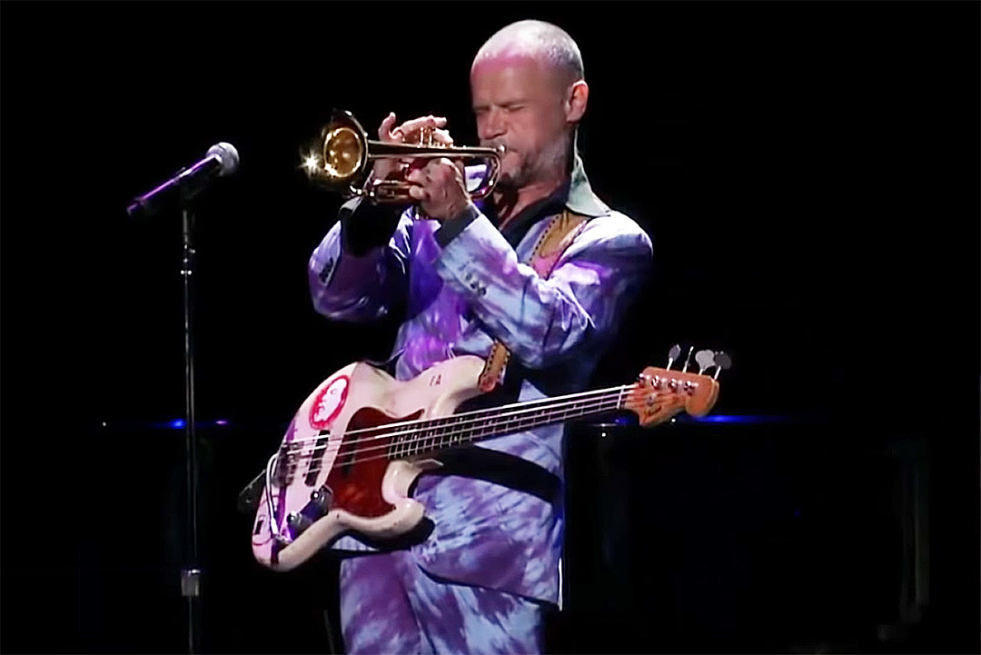 Watch Flea's 13-Minute Bass and Trumpet Solo