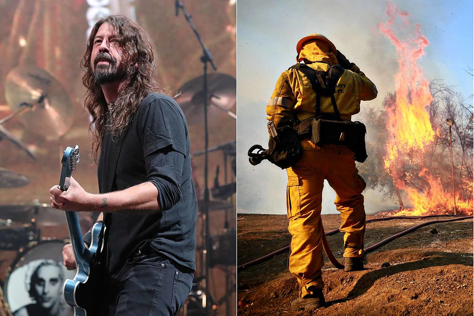 Dave Grohl Cooked Barbecue for California Firefighters