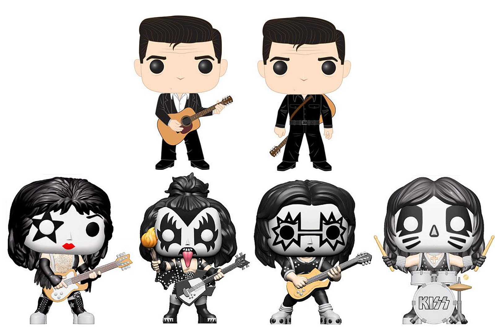 Kiss and Johnny Cash Immortalized in New Funko Pop! Figures