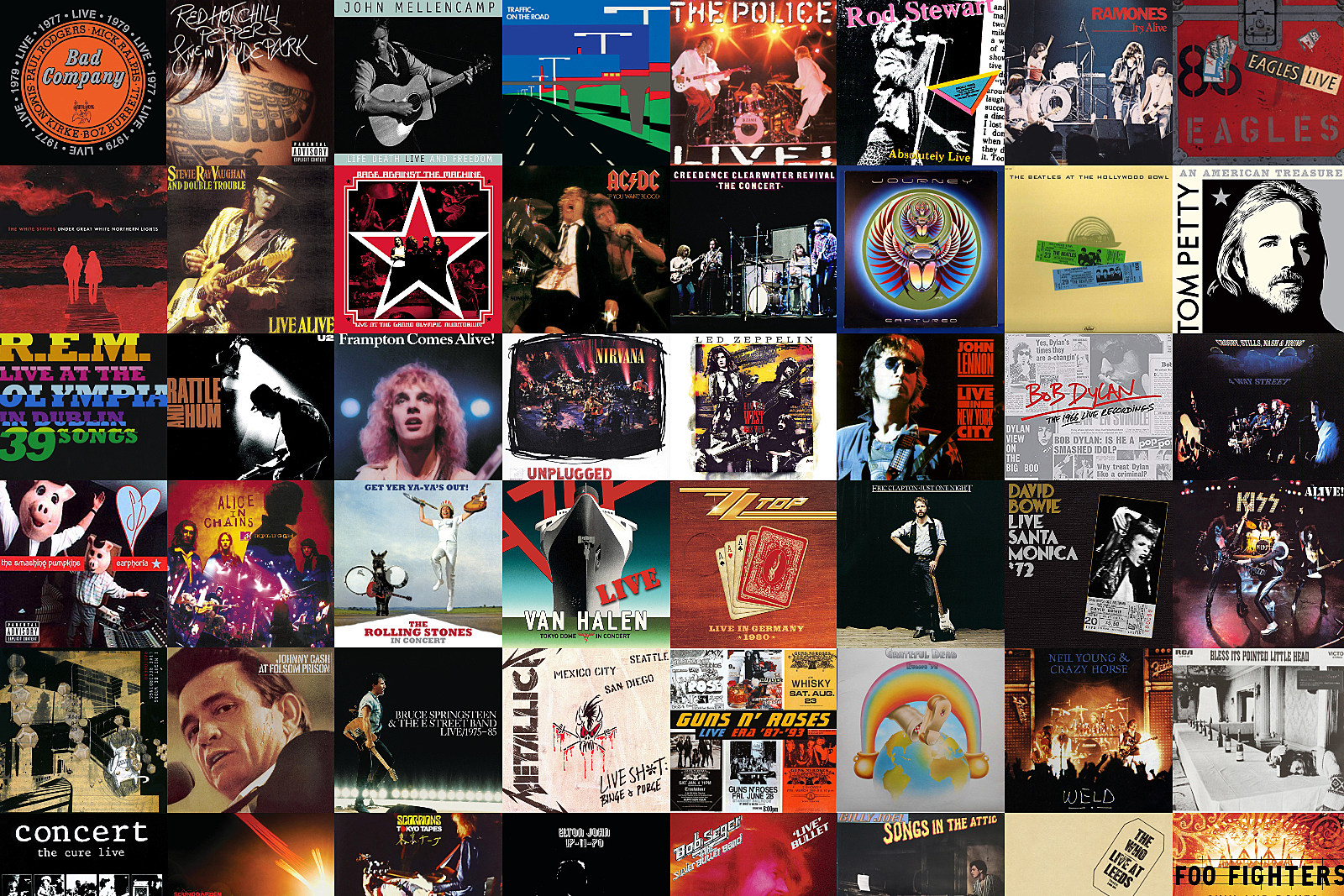 109 Magical Nights: The Most Awesome Live Album From Every Rock Legend