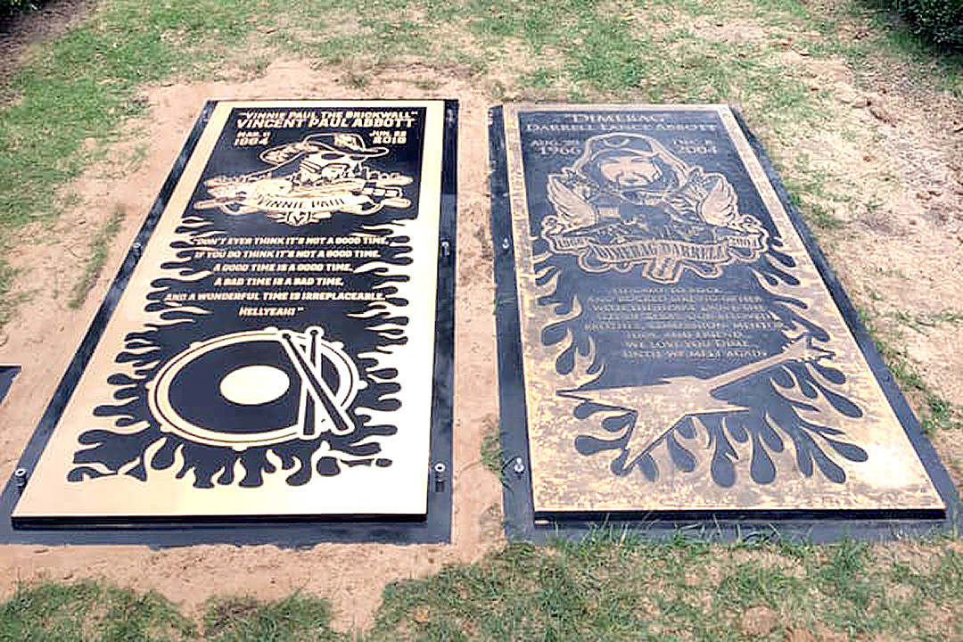 Vinnie Paul's Grave Marker Laid Beside Dimebag's
