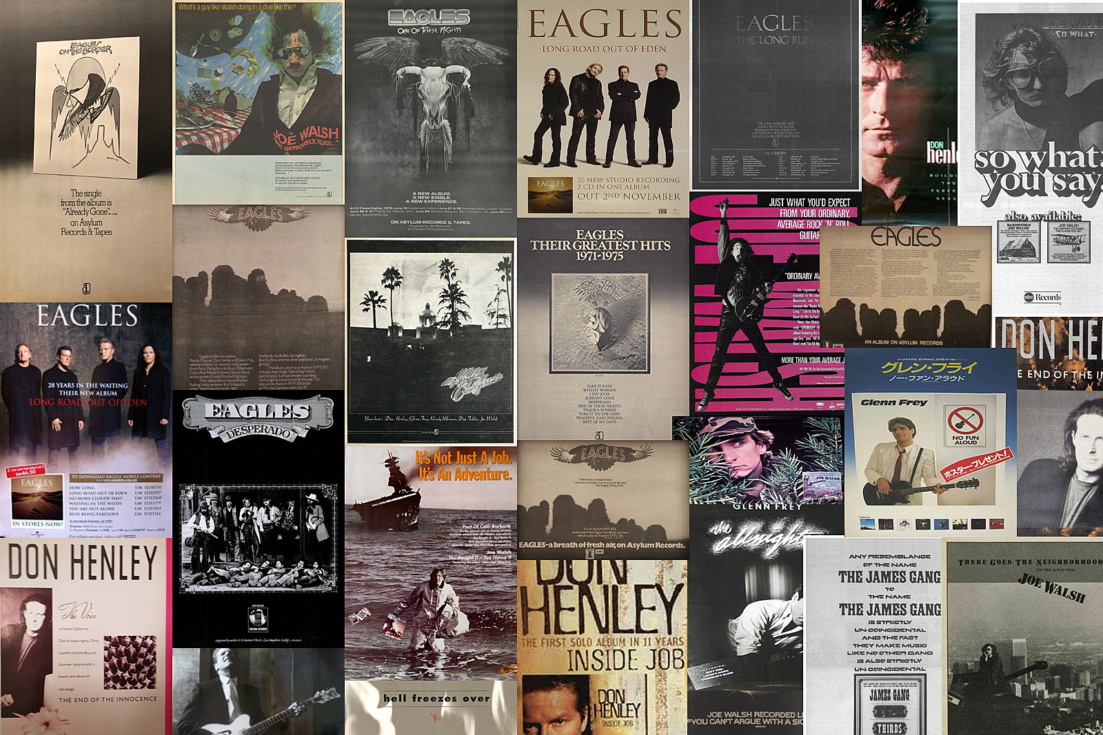 Eagles Magazine Ads Through the Years: 1972-2015