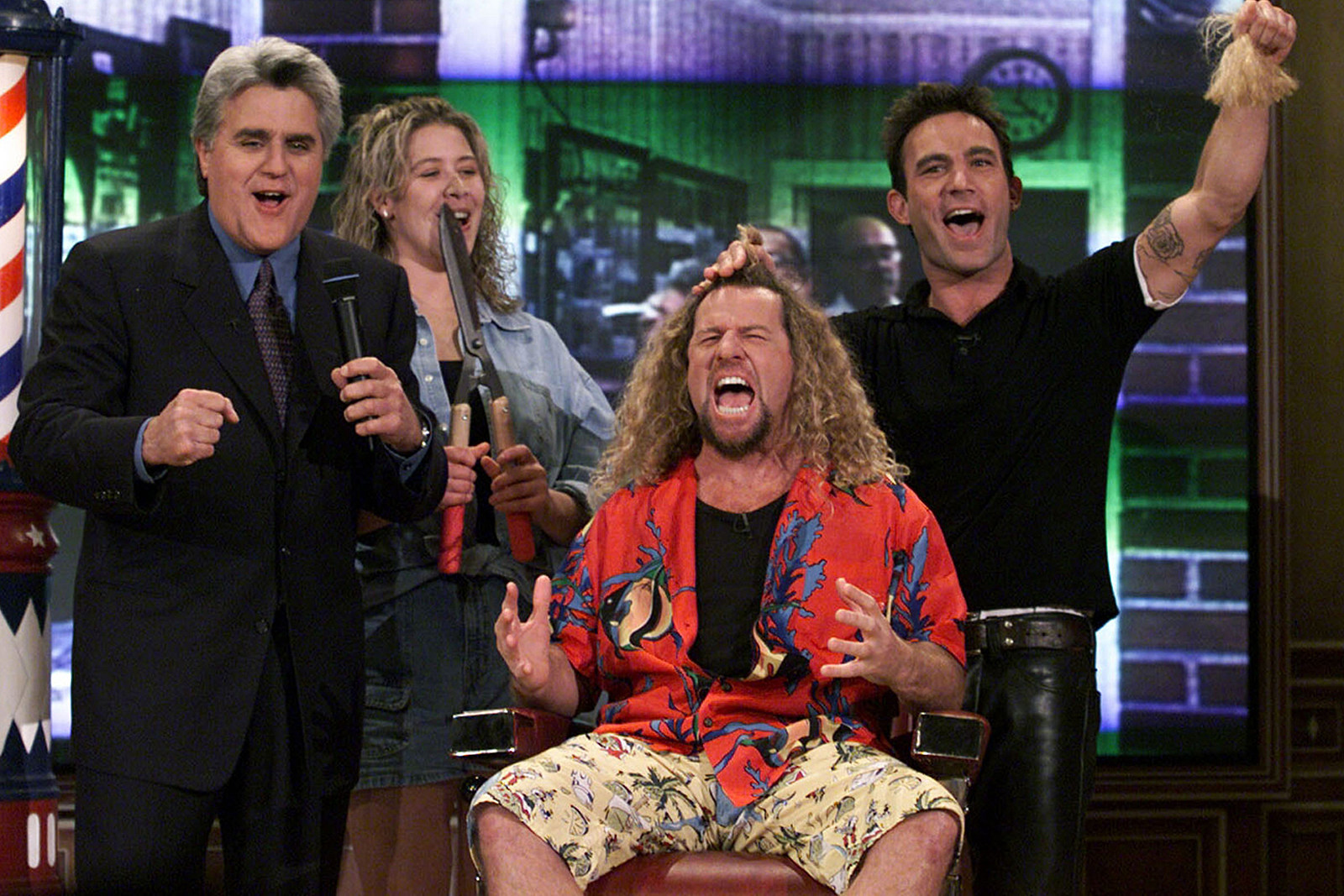 20 Years Ago: Sammy Hagar Cuts His Hair on 'The Tonight Show'